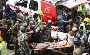 Les secours mobilisés à Mina après une bousculade meurtrière le 24 septembre 2015.