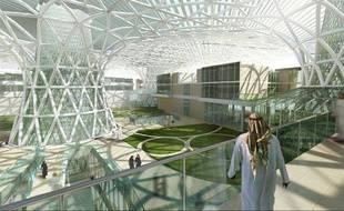 Image prévisionnelle de la ville de Masdar City, aux Emirats arabes unis.