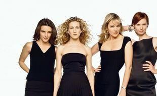 Les actrices de Sex and the City, de gauche à droite: Kristin Davis,  Sarah Jessica Parker , Kim Cattrall et Cynthia Nixon