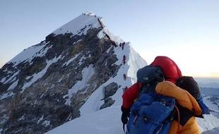 Un «embouteillage» lors de l'ascension de l'Everest.