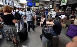 Le trafic SNCF interrompu à la gare Paris-Montparnasse, le 27 juillet 2018.