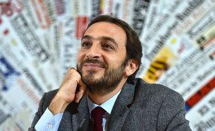 Emiliano Fittipaldi, l'un des deux journalistes italiens mis en accusation par le Vatican, le 17 novembre 2015 à Rome.