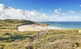 La plage du Portuais, à Erquy, dans les Côtes d'Armor.