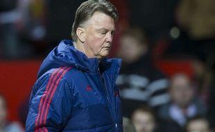 Louis van Gaal après le match entre Manchester United et Southampton le 23 janvier 2016.