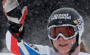La skieuse française Tessa Worley, lors du géant des championnats du monde de Val d'Isère, le 12 février 2009.