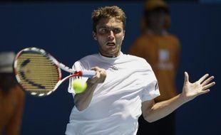 Le Français Gilles Simon, au premier tour de l'Open d'Australie, le 20 janvier 2009.
