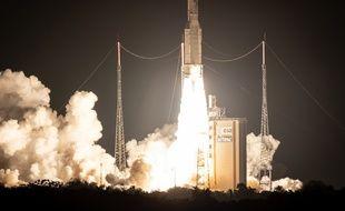 Ariane 5 pour son 100e lancement, à Kourou (Guyane) le 25 septembre 2018.