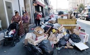 Les poubelles n'ont pas été ramassées depuis mercredi, dans certains quartiers de Marseille.