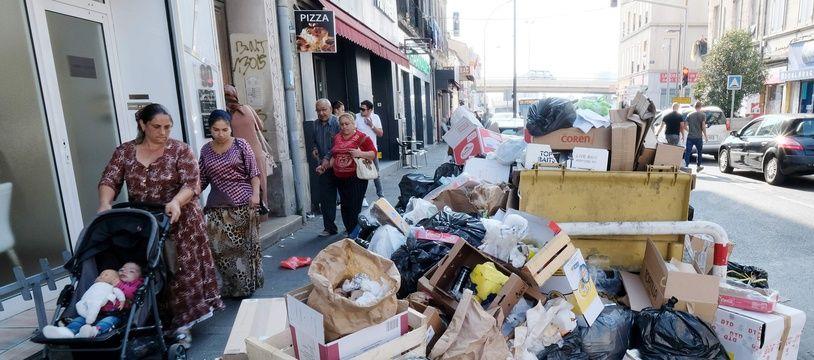 Les poubelles n'ont pas été ramassé depuis mercredi, dans certains quartiers de Marseille.