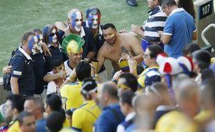 Des supporters français à Rio, lors du match France-Equateur, le 25 juin 2014.