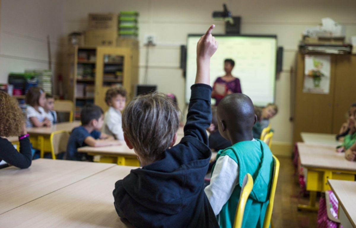 Une école primaire à Paris, le 2 septembre 2014. – FRED DUFOUR / AFP