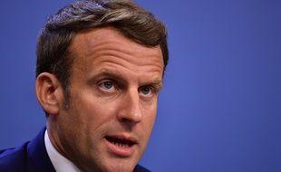 Emmanuel Macron le 21 juillet 2020.