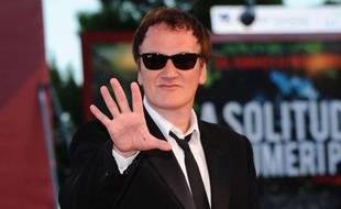 Quentin Tarantino à la Mostra de Venise, le 11 septembre 2010