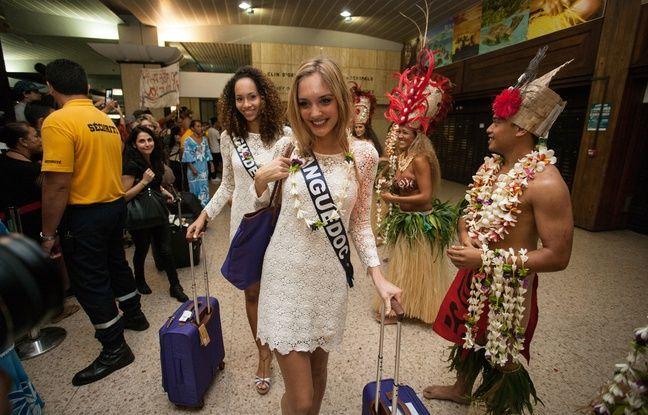 Les prétendantes au titre de Miss France 2016 arrivent à Tahiti le 22 novembre 2015.