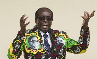 Le président du Zimbabwe Robert Mugabe, le 17 décembre 2016, à Masvingo.