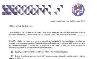 Toulouse Marseille Le Tfc Prévoit Un Mot D Absence Pour Les