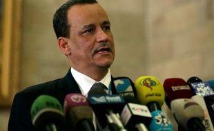 Ismaïl Ould Cheikh Ahmed, médiateur de l'ONU pour le Yémen, le 14 janvier 2016 à Sanaa