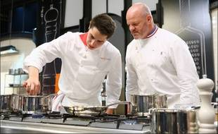 Xavier Koenig, candidat alsacien de «Top Chef» 2015, aux côtés de Philippe Etchebest.