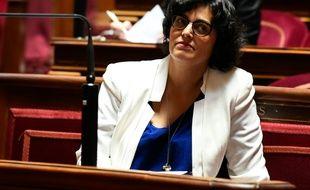 La ministre du Travail Myriam El Khomri, le 28 juin 2016 au Sénat à Paris