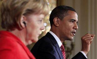 Angela Merkel et Barack Obama le 26 juin 2009 à Washington.