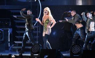 La chanteuse Britney Spears en concert en Chine en 2017