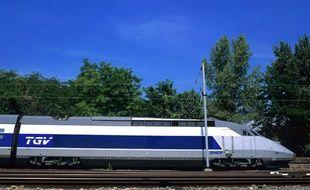 Illustration: Un TGV.