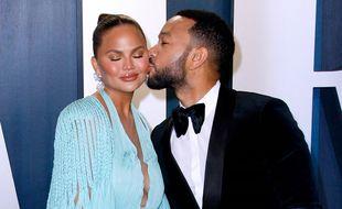 John Legend et sa compagne Chrissy Teigen le 9 février 2020 en Califonrie.