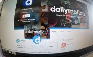 Page du site de partage de vidéos Dailymotion le 7 avril 2015