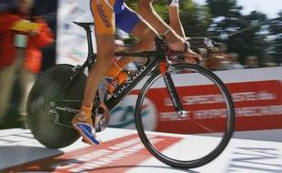 Le coureur cycliste Thomas Dekker, sous les couleurs de l'équipe Rabobank, lors du Tour de Romandie 2008, le 6 mai 2008.