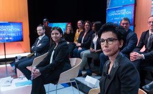 David Belliard, Anne Hidalgo et Rachida Dati lors du débat sur LCI, le 4 mars 2020.