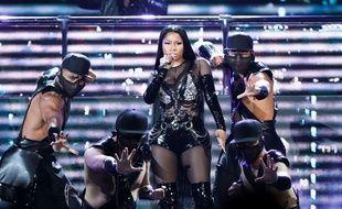 Nicki Minaj en concert à Las Vegas en mai 2017.