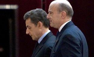 Nicolas Sarkozy et Alain Juppé le 20 janvier 2012 à l'Elysée à Paris