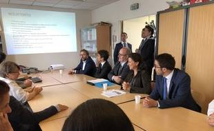 Agnès Buzyn a rencontré le personnel des urgences d'Argenteuil le 17 septembre 2019.