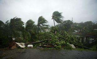 Le Guadeloupe touchée par l'ouragan Maria, le 19 septembre 2017.