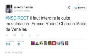 Robert Chardon a profité du hashtag ouvert par Nicolas Sarkozy sur Twitter pour accueillir les questions des Français, pour livrer le fond de sa pensée sur la religion musulmane