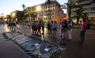 Hommage aux victimes de l'attentat de Nice, un an après.