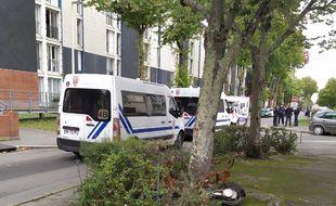 La police dans le quartier Château de Rezé (illustration).
