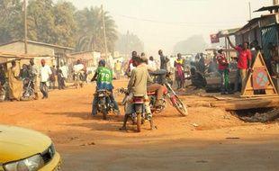 Dans les rues de Bangui, capitale de la Centrafrique, le 4 janvier 2014.