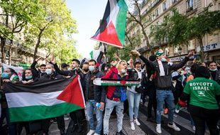 Manifestation pro-palestinienne à Paris le 15 mai 2021.