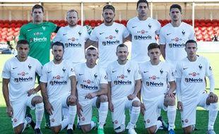 Les joueurs d'Hamilton avant leur match contre Aberdeen le 22 novembre 2015.