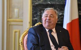 Le président du Sénat Gérard Larcher à Paris le 27 septembre 2017.