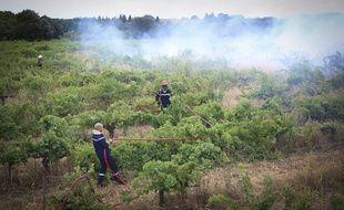 (Illustration) L'origine de l'incendie qui a parcouru près de 500 hectares à Générac dans le Gard est a priori «criminelle».