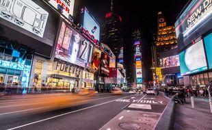 Illustration du quartier de Times Square à New York aux Etats-Unis.