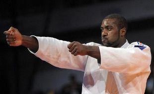 Le judoka français Teddy Riner, le 30 août à Rotterdam, lors de sa victoire en finale des championnats du monde.