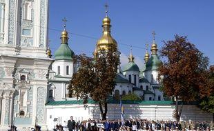 Deux personnes ont été blessées jeudi 24 août 2017 dans l'explosion d'un «engin inconnu» à Kiev, en pleine commémoration de l'indépendance de l'Ukraine.