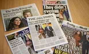 Toute la presse britannique s'est emparé de l'annonce de Meghan et Harry.