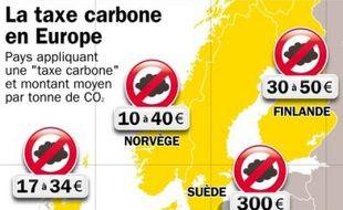 La taxe carbone chez nos voisins européens, ça coûte combien?