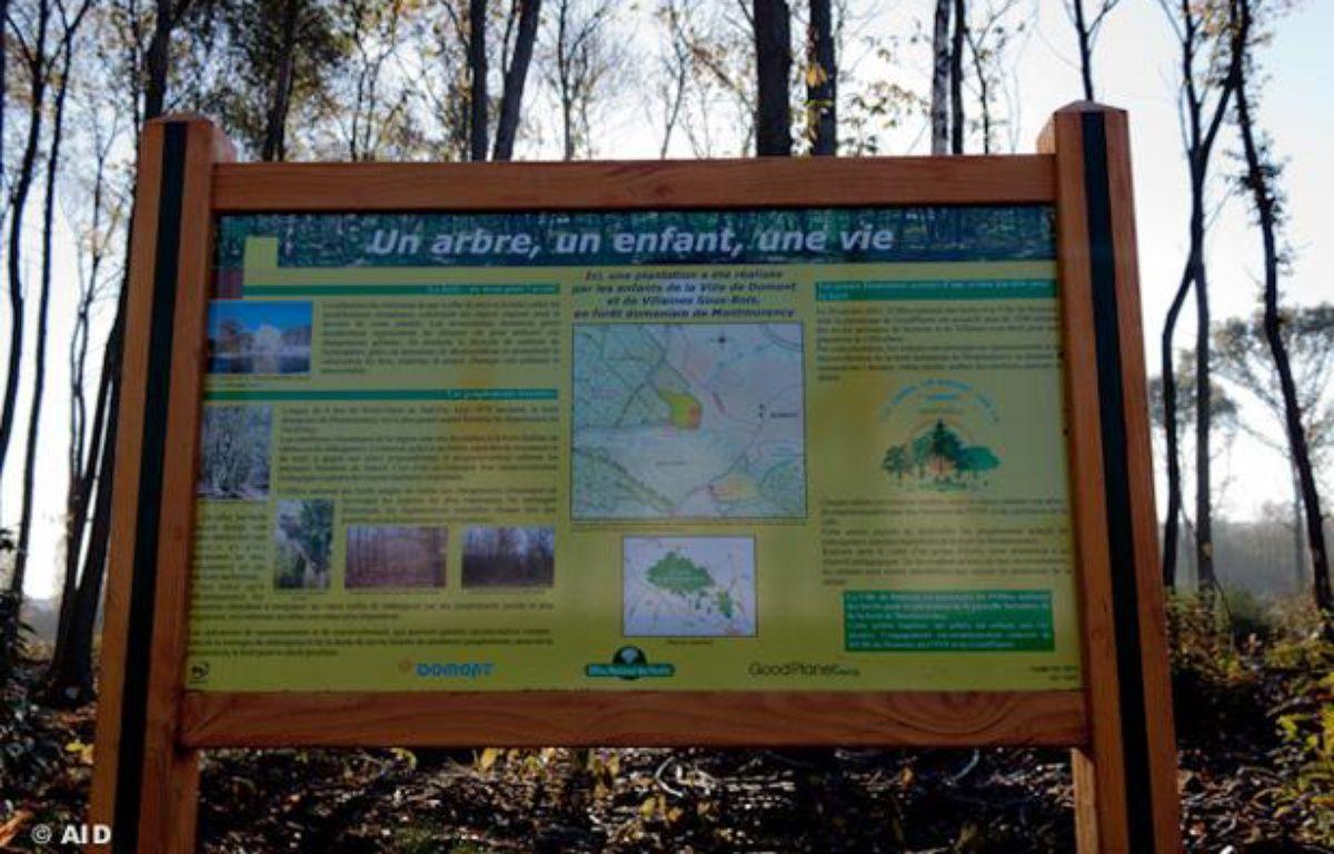 """L'opération """"Un arbre, un enfant, une vie"""" a été inaugurée en forêt de Montmorency le 20 octobre 2011 à Domont (Val d'Oise). – @AID"""