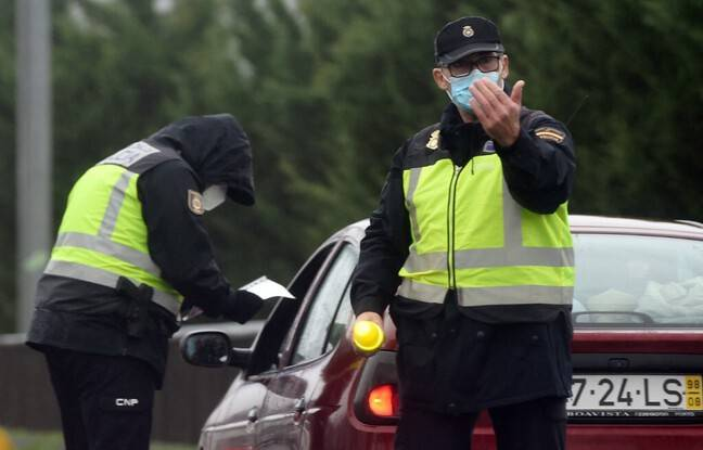 648x415 policiers espagnols point controle entre galice portugal 31 janvier