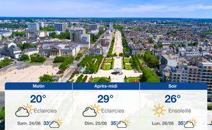 Météo Angers: Prévisions du vendredi 23 août 2019